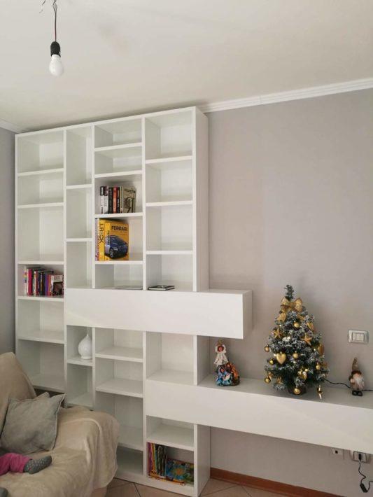 Mobile libreria per soggiorno - Falegnameria Nascimben